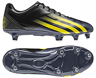 FF80 Pro XTRX SG Rugby Boots Black Vivid Yellow - size 9  Amazon.co.uk   Shoes   Bags 46e515617f