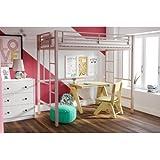 Your Zone Metal Loft Twin Bed by SuperIndoor (Pink)