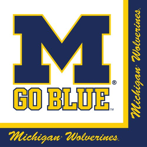 Michigan Wolverines Lunch Napkins 20 Count
