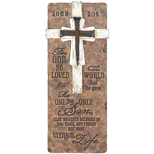God So Loved the World Cross Nails 15 Inch Resin Decorative Hanging Wall Plaque by Dicksons