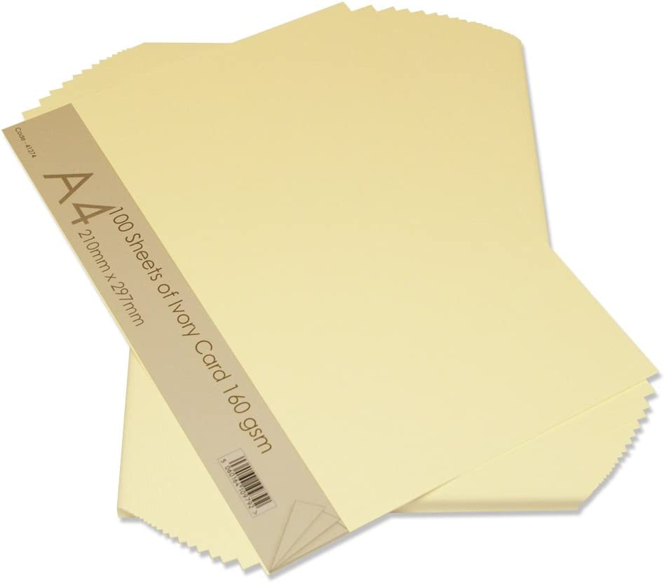 50 sheets x A3 Ivory Smooth Pastel Craft Card 250gsm Colour Choice