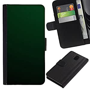 KingStore / Leather Etui en cuir / Samsung Galaxy Note 3 III / Simple Green