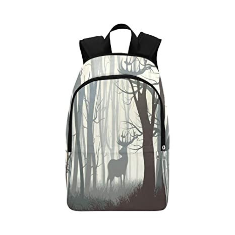 887f09b5d Amazon.com: YPink Dark Forest Wild Elk in Forest Casual Daypack ...