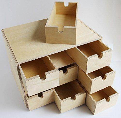 Bon All Natural Wood Storage Chest Box Office Desktop Organizer , 9 Drawers ,  Birch Arts Entertainment Hobbies Creative Arts Crafts Hobbies Craft Hobby  Sewing ...