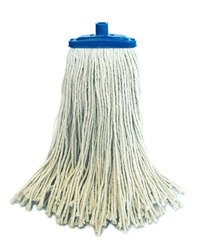 Cotton Quick-Connector Mop by HeRO - 16 Ounces With Beefy Female Quick-Connect Attachment. Split End Cotton (Cotton Head Mop)