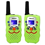 Retevis RT32 Kids Walkie Talkie Long Range Two Way Radio for Children FRS/GMRS 22 Channels VOX Call Alarm Flashlight 2 Way Radio Toy (Green, 1 Pair)