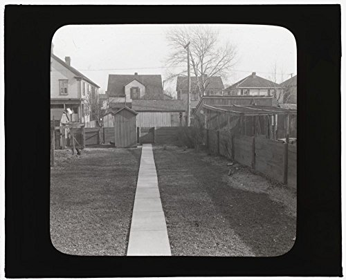 1896 Photo National Cash Register Company, Dayton, Ohio. Workers garden with pathway before landscaping Location: Dayton, - Dayton Ohio Framing Picture
