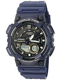Reloj Casio Analógico Telememo con World Time para Hombres 50mm