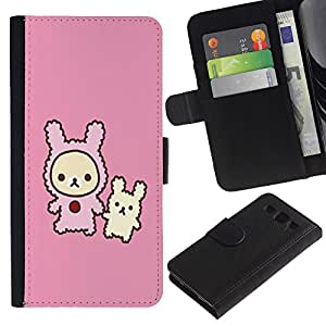 UNIQCASE - Samsung Galaxy S3 III I9300 - Cute Rabbit Friends - Cuero PU Delgado caso cubierta Shell Armor Funda Case Cover