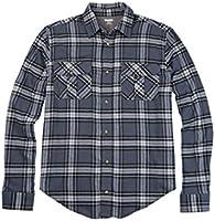 Kingsize Men's Big & Tall Double-Brushed Plaid Flannel Shirt, Steel Plaid