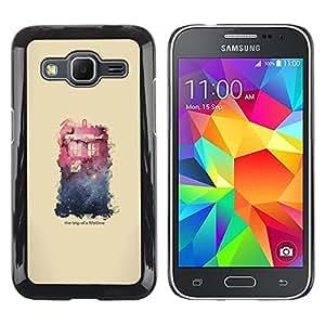EJOY---Cubierta de la caja de protección la piel dura para el / Samsung Galaxy Core Prime / --Espacio Galaxy Casa