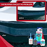 Plastic Repair, Car Bumper Fix and Crack Filler Supplies Kit, Used For Automotive Parts Like Radiators and Headlights, Heavy Duty and Quick Set, For Most Plastics, Metal, Glass, Fiberglass, Rubber