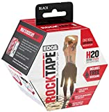 Rocktape H2O Edge Highly Water-Resistant Kinesiology Tape with Travel Case, 16.4-Foot Continuous Roll, Black