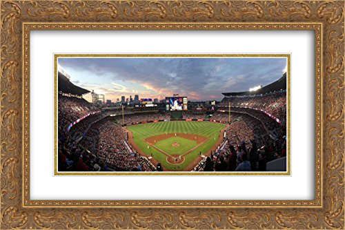 - Turner Field 2X Matted 24x14 Gold Ornate Framed Art Print from The Stadium Series