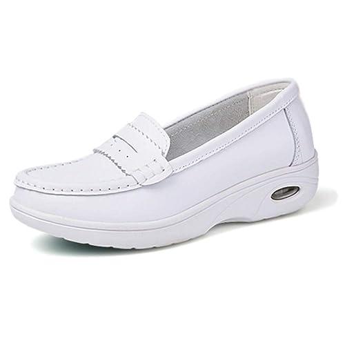 Cuir Pompes Yudesun Mesdames Infirmière Souple Femme Chaussures qSpzUMV