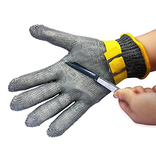 Mesh Metal Glove (StillCool Cut Resistant Gloves New Safety Cut Proof Stab Resistant Stainless Steel Metal Mesh Butcher Glove Food Grade Cut Proof Gloves)