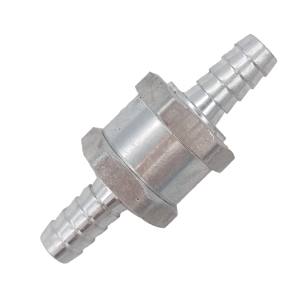 8mm 5/16' Aluminium Non-Return One Way Check Valve Petrol Diesel Fuel Oil Water Germban