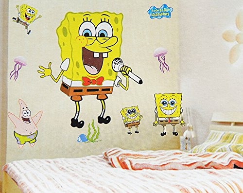 Decal Art DIY SpongeBob SquarePants Home Wall Decor Removable ...