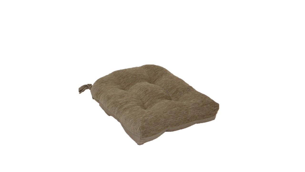 Brentwood 3439 Crown Chenille Tufted Chair Pad, Linen