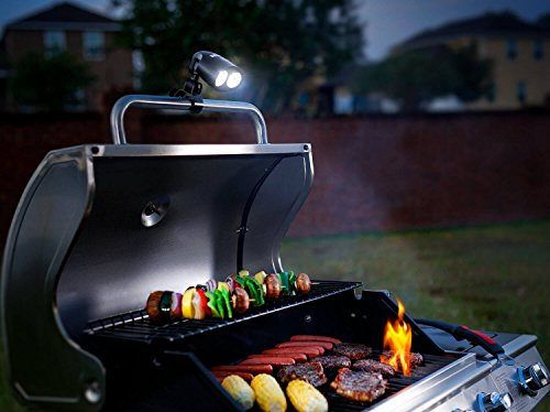 Zeust #1 Barbecue Grill Light - 10 Super Bright LED Lights, Durable, Weather & Heat Resistant, Best LED BBQ Light for Any Gas/Charcoal/Electric Grill, Black