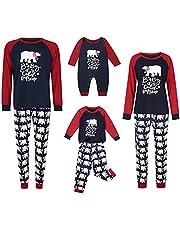 Luiryare Family Matching Christmas Pajamas Set Bear Long Sleeve Pullover Pants Sleepwear Dad Mom Kids Baby Pyjamas Homewear