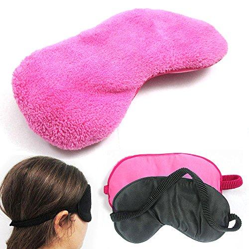 2 Plush Sleep Eye Mask Silk Travel Shades Blindfold Sleeping