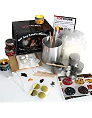 Cozyours DIY Soy Candle Making Kit for Beginners (Soy Wax, Fragrance Oils, Pouring Pot, Candle Tins, Candle Wicks and More!)