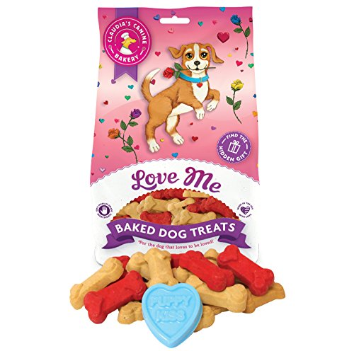 - Claudia's Canine Bakery, Love Me Bag of Treats | Vanilla Flavor, Gourmet Dog Treats | No Preservatives, No Animal by-Products, No Fillers | Made in The USA | Net Wt. 8 oz