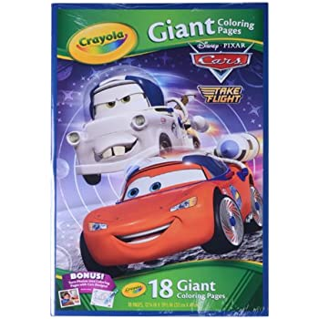 crayola disney pixar cars toon giant color pages