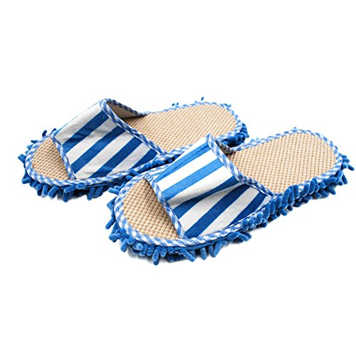 Solas Red Handheld - 27x11cm Home Slippers Style Mops Floor Ground Cleaning Tools Novelty Microfiber Funny Dust Bedroom Accessories Supplies,Blue