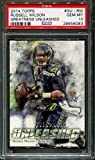 unleashed football cards - 2014 Topps Greatness Unleashed #gu-rw Russell Wilson Pop 4 10 F2539769-083 - PSA/DNA Certified - Football Game Used Cards