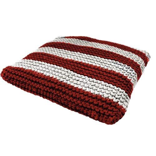 CROCI Cabana Red Braided Cushion for Animals, Size 50x50 cm by Croci
