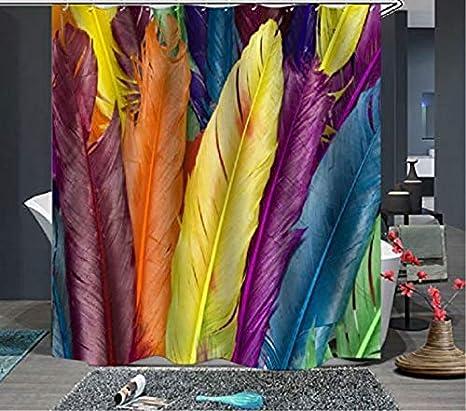 Topmail Rideau de Douche Imperm/éable et Anti-moisissure avec 12 Anneaux Crochets 100/% Polyester Rideau de Salle de Bain Imprim/é Multicolore 180 180cm Arbre