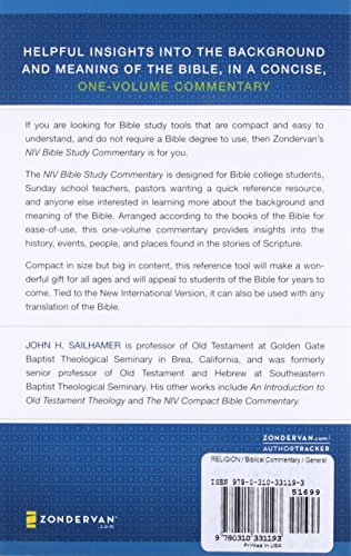 NIV Bible Study Commentary Paperback – Abridged, October 25