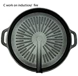 Fragil Tox Grill Plate Nonstick BBQ Grills Wheat Rice Stone Pan fire Induction General-Purpose Barbecue Pot Round Roasting Plate Home Use c