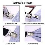 Adjustable Bed Sheet Clips, Sheet Fasteners Holder