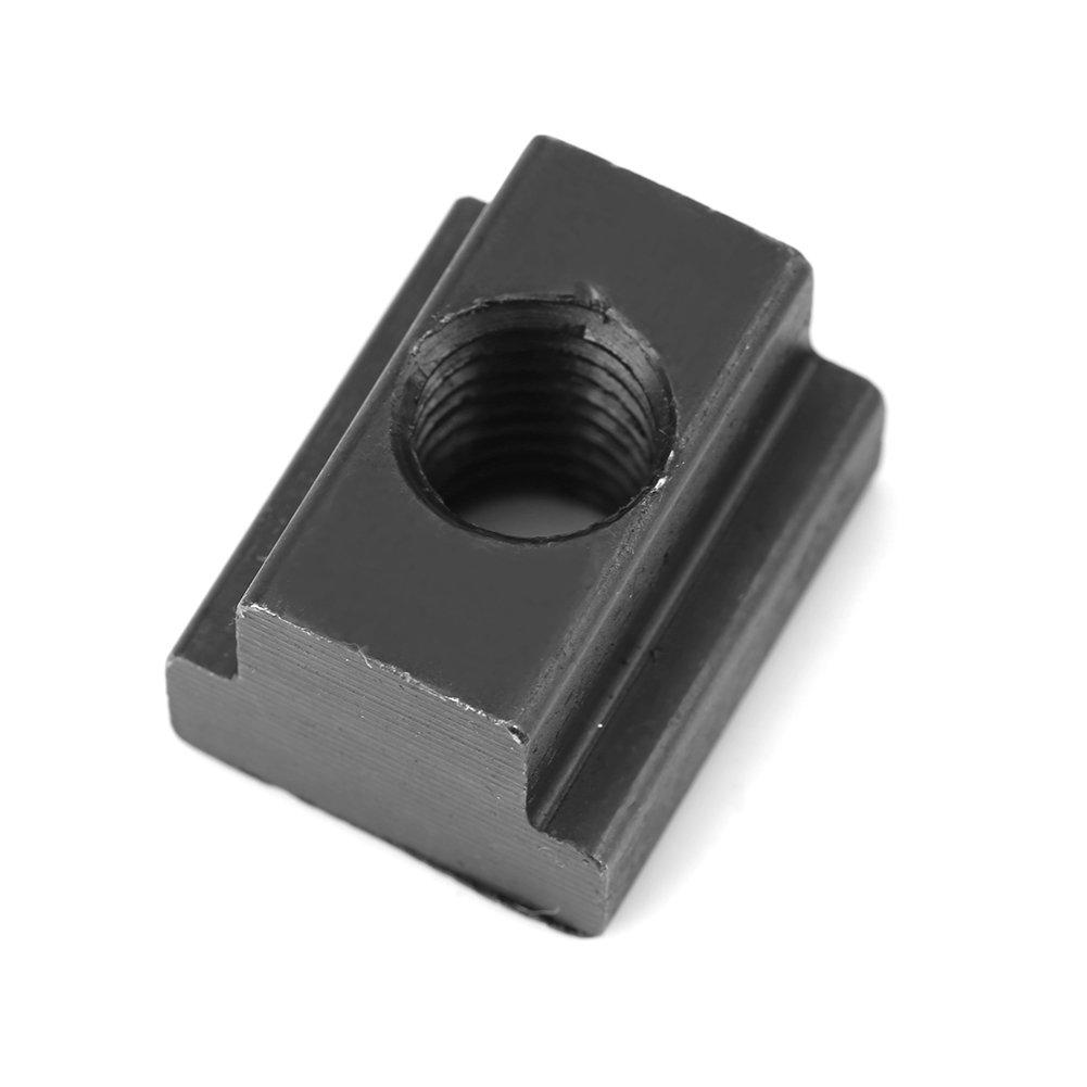 negro /óxido de acabado 5pcs T ranura tuercas M8//M10/rosca