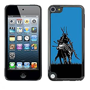 Paccase / SLIM PC / Aliminium Casa Carcasa Funda Case Cover para - Samurai In Fields - Apple iPod Touch 5