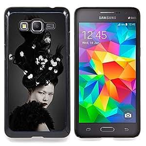For Samsung Galaxy Grand Prime SM-G530F G530FZ G530Y G530H G530FZ/DS , Blanco Brunette loco del pelo - Diseño Patrón Teléfono Caso Cubierta Case Bumper Duro Protección Case Cover Funda