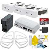 FPV Accessory Package For DJI Phantom 3 Advanced / Professional Quadcopter Drones: Includes DJI HDMI Output Module, Phantom 3 Battery Charging Hub, 3 Spare Batteries and more