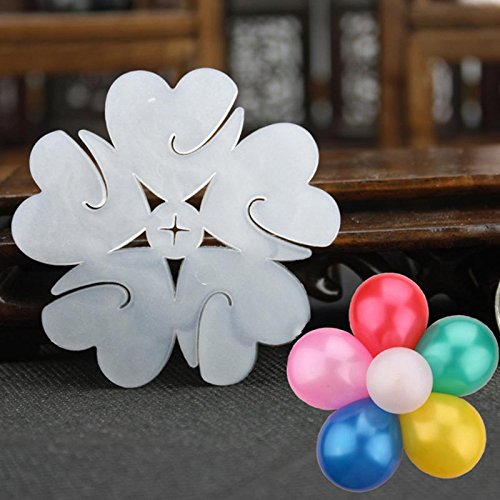 Disposal Tableware - 6.5 Cm Flower Balloon Latex Helium Modelling Clip Decorations Sealing Clips Balloons - Weights Flowers Balloon Model Ballons Accessories Foil Balloon Flower Number H ()