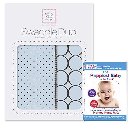 SwaddleDesigns SwaddleDuo Swaddling Blankets Happiest