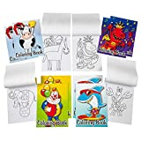 Kicko Mini Coloring Book - 12 Pieces of Assorted Activity Sheets - 6 Pages Each - Perfect for Pastimes, Educational, School Supplies, Sensory Tools, Party Favor - for Kids