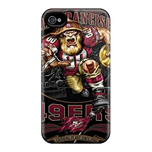 Rugged Skin Case Cover For Iphone 4/4s- Eco-friendly Packaging(san Francisco 49ers)