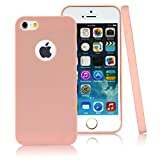 5s cases jelly - iPhone 5 5s Case,CLOUDS [Jelly Colorful Series] Ultra Slim Lightweight Classic Design Durable Soft Rubber TPU Silicone Gel Fahion New Simple Case Cover for iPhone 5s/5 - with a HD Protector - Cute Pink