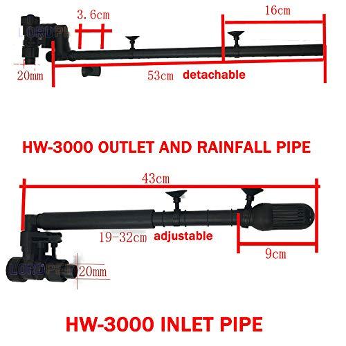 New Edify Ltd Sunsun Inlet Outlet Rainfall Pipe Aquarium External Filter Accessories 20Mm Original Part for Fish Tank Hw-3000 Canister