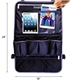 "#1 Car Back Seat Organizer with 17"" Leather Touch Screen Tablet Holder ★ Heavy Duty Waterproof Backseat Protector/ Kick Mat for Kids & Babies ★ Perfect Baby Shower Gift ★ 10 Year Warranty !!!"