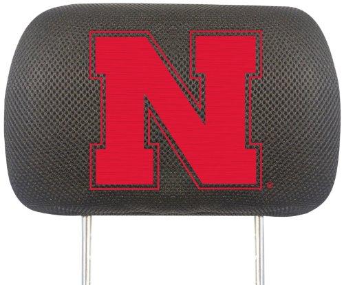 FANMATS NCAA University of Nebraska Cornhuskers Polyester Head Rest Cover