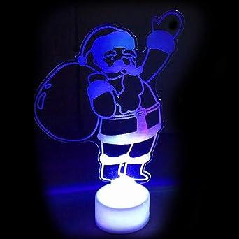 Christmas Led Lights.Miini Christmas Led Lights Ornament 7colors Changing Santa
