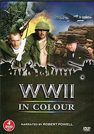 WWII IN COLOUR 4 DVD Gift Set: Amazon co uk: Robert Powell: DVD